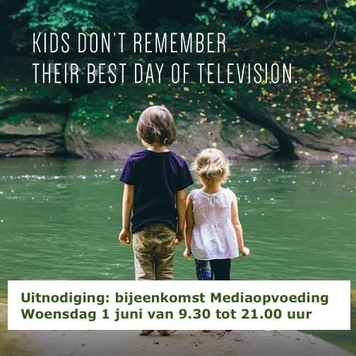 Bijeenkomst Mediaopvoeding woensdag 1 juni van 9.30 tot 12.00 uur